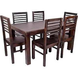 Blueginger Solid Wood Dining Set(Finish Color - Walnut)