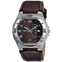 Timex Quartz Brown Round Men Watch EL04
