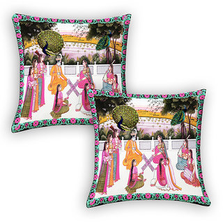 Livery Home Printed Cushion Cover Set Of 2