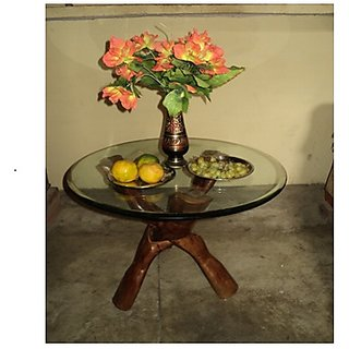 saifi wood handi crafts wooden cofee table 3 leg