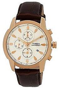 Timex Quartz Beige Dial Mens Watch-TW000Y505