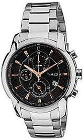 Timex Quartz Black Dial Mens Watch-TW000Y502