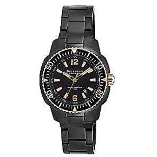 Giordano Quartz Black Dial Mens Watch-P157-44