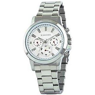Giordano Quartz White Dial Mens Watch-F6103-11
