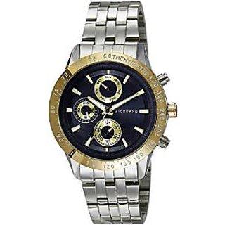 Giordano Quartz Black Dial Mens Watch-F6102-33
