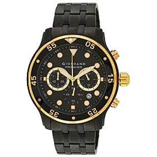Giordano Quartz Black Dial Mens Watch-P167-55