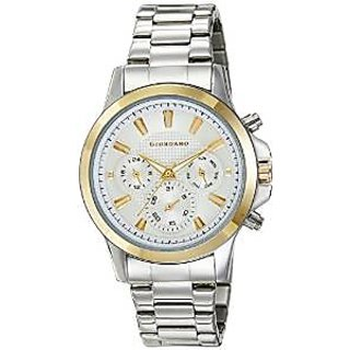 Giordano Quartz Silver Dial Mens Watch-F6103-33