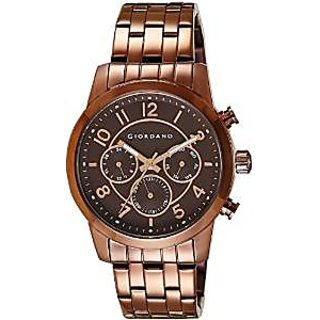 Giordano Quartz Brown Dial Mens Watch-1730-77