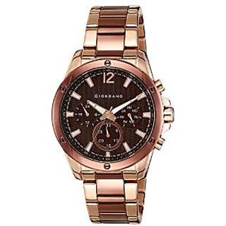 Giordano Quartz Brown Dial Mens Watch-1731-66