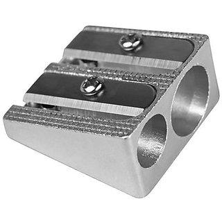 Milan Aluminium Double Use Pencil Sharpener (Pack of 5)
