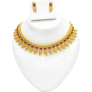 Multiline Company Alloy Jewel Set(Gold, Red)