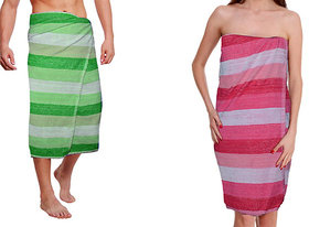 Men  Women Bath Towel combo of 2
