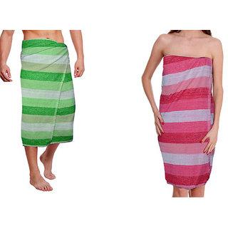 Men  Women Bath Towel combo of 2