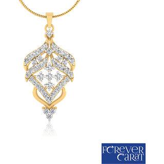 0.69ct Natural White Diamond Studded Pendant 14K Hallmarked Gold Pendant P-0164G