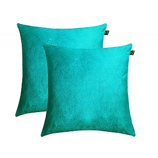 Lushomes Turq Embossed Blackberry Cushion Cover (Pack of 2)