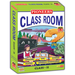 PIONEERS CLASS ROOM- CLASS 2 English EVS Science Maths GK CD (Pack of 5)  Universal Syllabus Kids Educational CD