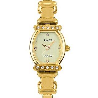 Timex Quartz Green Dial Women Watch-FT03