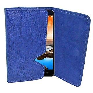 Totta Wallet Case Cover for Lenovo S920 (Blue)