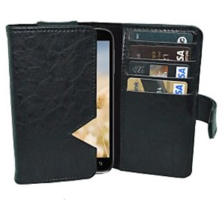 Totta Wallet Case Cover for Lenovo S890 (Black)