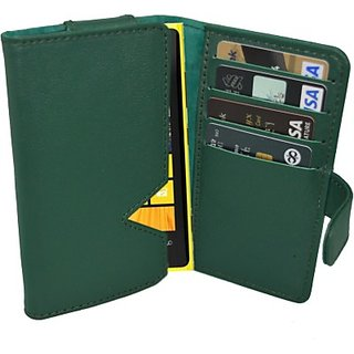 Totta Wallet Case Cover for Nokia X (Green)