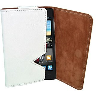 Totta Wallet Case Cover for Gionee Gpad G1 (White)