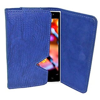 Totta Wallet Case Cover for Celkon Millennia Epic Q550 (Blue)