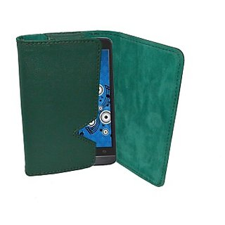 Totta Wallet Case Cover for Spice Stellar Mi425 (Green)