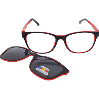 e0afdadaa0 Vast Rxable Frame Plus Polarized Magnetic Clip on Sunglasses (2 IN  One)-CLIPON012ROUNDRED
