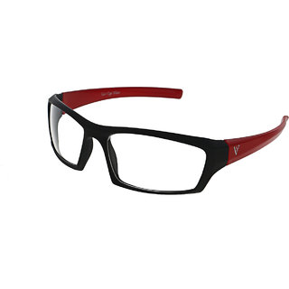Vast UV Protection Car And Bike Driving Wrap Around Sunglasses-NEWNTBLACKREDCLEAR