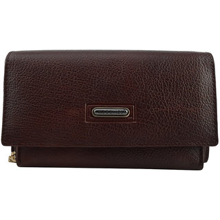 Moochies Ladies Pure Leather Wallet/Clutch, Maroon mocwwT203maroon