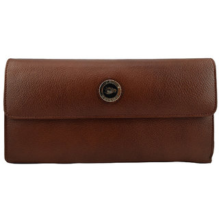 Moochies Ladies Pure Leather Wallet/Clutch, Light Tan mocww11lttan