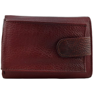 Moochies Ladies Pure Leather Wallet/Clutch, Maroon mocww175maroon