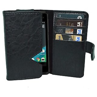 Totta Wallet Case Cover for MTS MTAG 401 (Black)