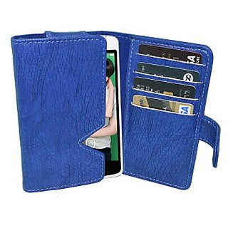 Totta Wallet Case Cover for Oppo R2001 YoYo (Blue)