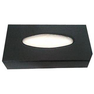 Takecare Tissue Box Holder - Black For Volkswagen Vento 2014-2015