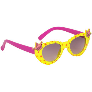 Stoln Girls Yellow  Cat-Eye Crown Sunglass-6104-22A73-04
