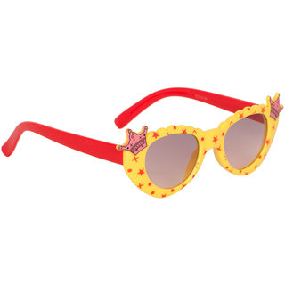 Stoln Girls Yellow  Cat-Eye Crown Sunglass-6104-22A73