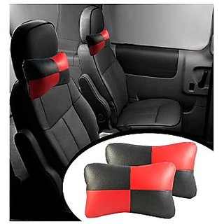 TAKECARE  Designer Car Seat Neck Cushion Pillow - Black and Red Colour  CHEVROLET ENJOY