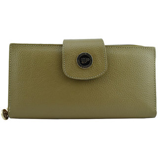 Moochies Ladies Pure Leather Wallet/Clutch, Beige mocww25beige