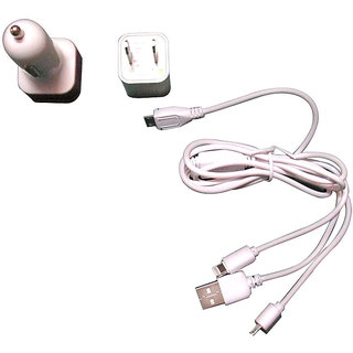 Takecare 3 In 1 Usb Cable Car Charger And Socket(4S,5S,And Smart Phones) For Toyota Fortuner 2010-2013 Type-2