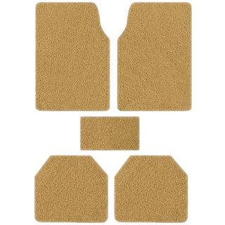 Takecare Beige Anti Slip Noodle Car Floor Mat For Scoda Laura