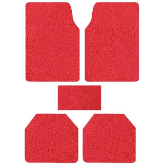 Takecare Red Anti Slip Noodle Car Floor Mat For Toyota Fortuner Old Type-1