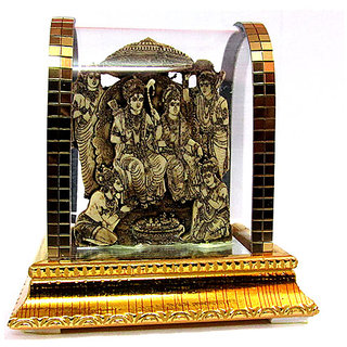 Takecare Hindu God Idol Ram Darbar Ji Proper Fit In Glass Temple For Mercedes G Class