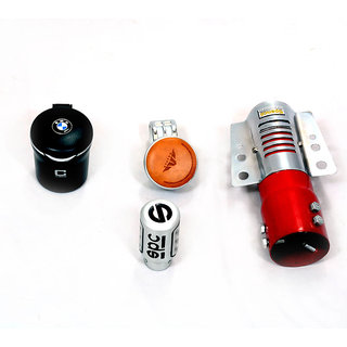 Takecare Items Status Knob+Bmw Ash Tray+Gear Shift Knob And Red Rocket Silencer Only Small And Medium Car For Hyundai I-20