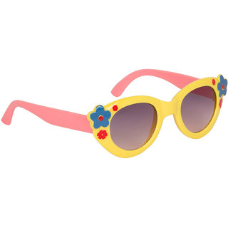Stoln Girls Yellow Cat-Eye Sunglass-1205-2224-03