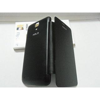 LAVA XOLO q700 Q 700 Black Leather Caller ID Flip Flap Diary Case Cover Pouch