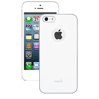 Moshi iGlaze Hard Shell Case cover pouch for apple iPhone 5 5G White