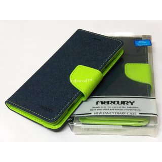 Mercury Fancy Diary Flip Cover Silicone Back Case For Sony Xperia L S36H BL&GR