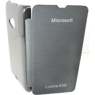 High Quality Flip Cover Hard Back Case For NOKIA LUMIA 535 BLACK