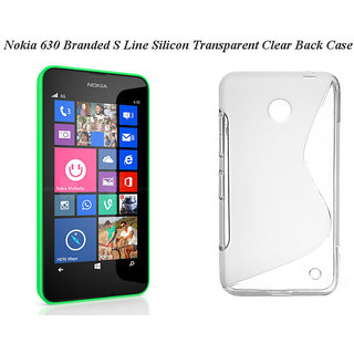 Nokia 630 Branded S Line Silicon Transparent Clear Back Case